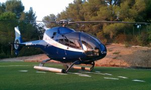EC120 on private helipad