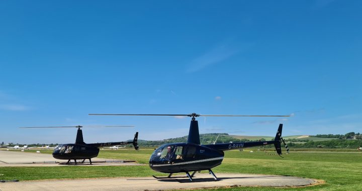 R44 and R66 starting up for check flights