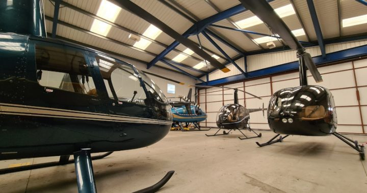 Helicopters in the hangar